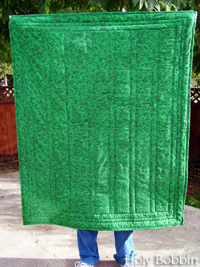 Green Quilt Back