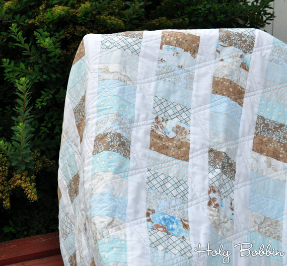 Blue Coin Stack Quilt
