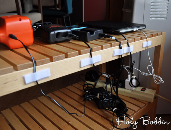 Organized Chords With Velcro